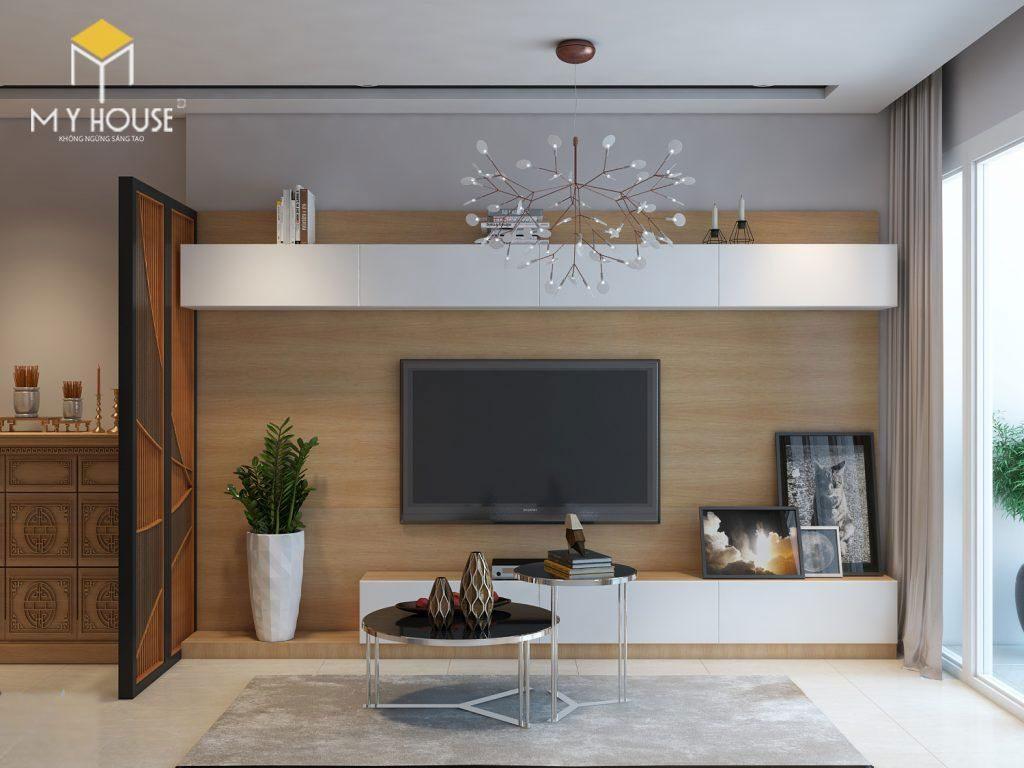 Nội thất phòng khách đơn giản hiện đại - View 2