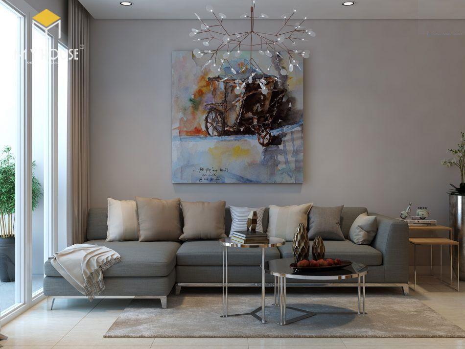 Nội thất phòng khách đơn giản hiện đại - View 1