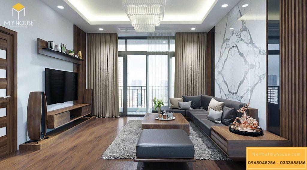Nội thất phòng khách hiện đại sang trọng - View 1