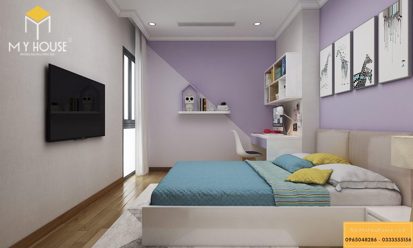 Nội thất phòng ngủ cho bé chung cư 180m2 _ View 1
