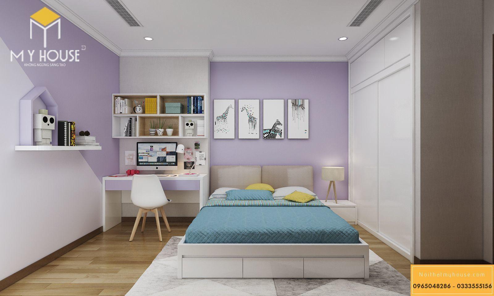 Nội thất phòng ngủ cho bé chung cư 180m2 _ View 2