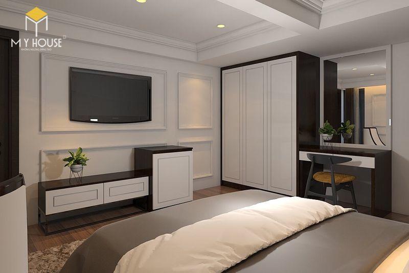 Phòng với đầy đủ nội thất đảm bào công năng