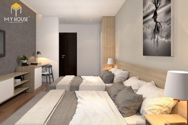 Phòng ngủ với 2 giường đơn