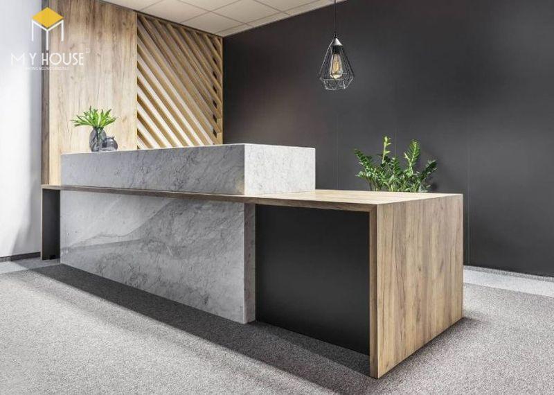 Thiết kế quầy lễ tân văn phòng cần chú ý đến kích thước