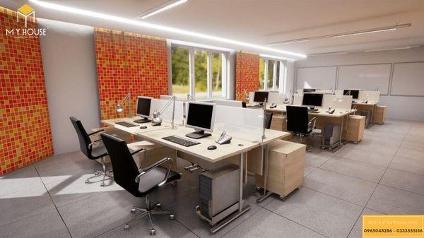 Mẫu thiết kế nội thất văn phòng cho thuê đẹp 2021 - Mẫu 2