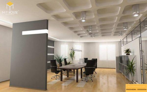 Thiết kế văn phòng cho thuê đầy đủ ánh sáng