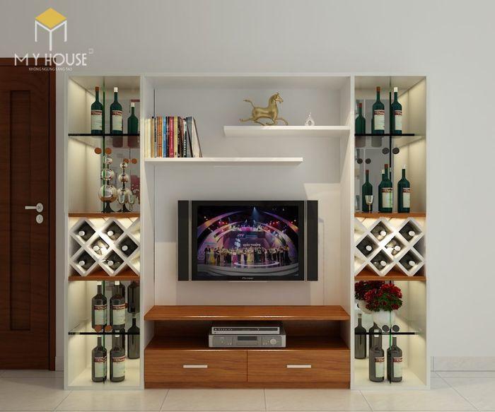 Mẫu tủ rượu trang trí phòng khách