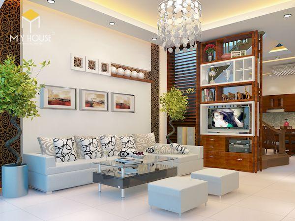 Tủ kính trang trí phòng khách