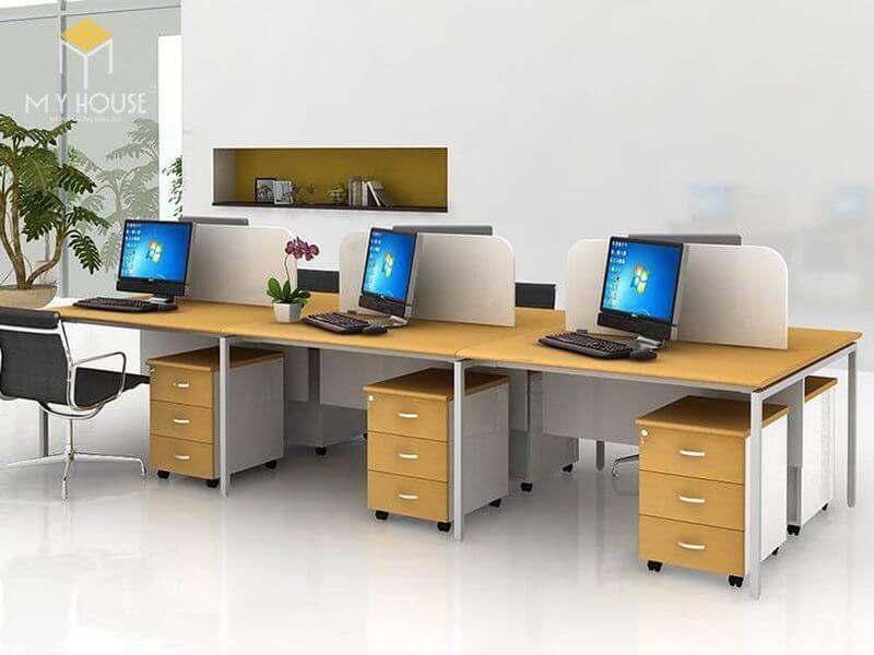 Bàn ghế nhân viên văn phòng - Mẫu 10