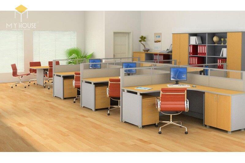 Bàn ghế nhân viên văn phòng - Mẫu 9