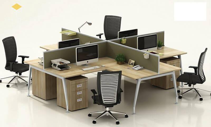 Bàn ghế nhân viên văn phòng - Mẫu 8