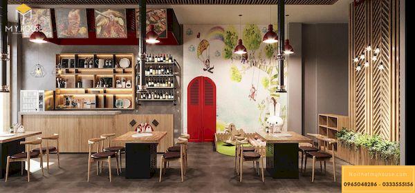 Mẫu thiết kế nhà hàng lẩu nướng chị Giang - Ảnh 13