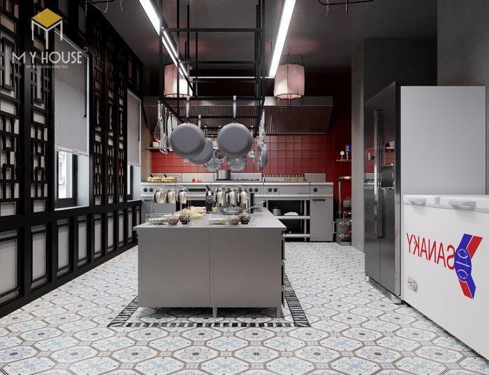 Không gian bếp tiện nghi khoa học