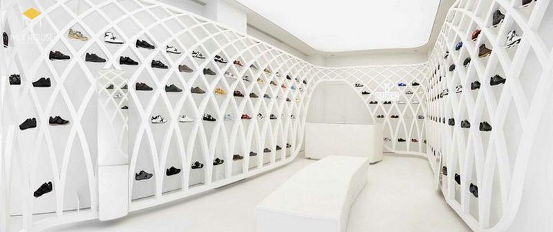 Thiết thế nội thất Showroom trưng bày giày cao cấp - View 1