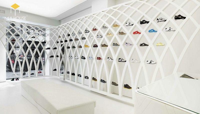 Thiết thế nội thất Showroom trưng bày giày cao cấp - View 2