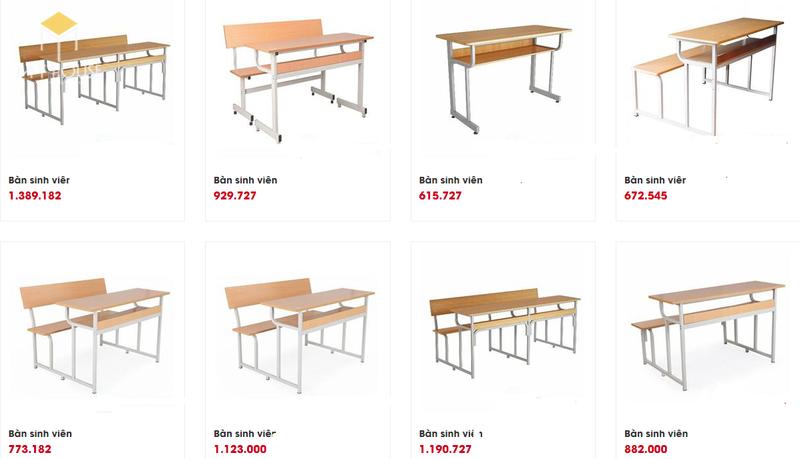 Mẫu và báo giá nội thất trường học - M4