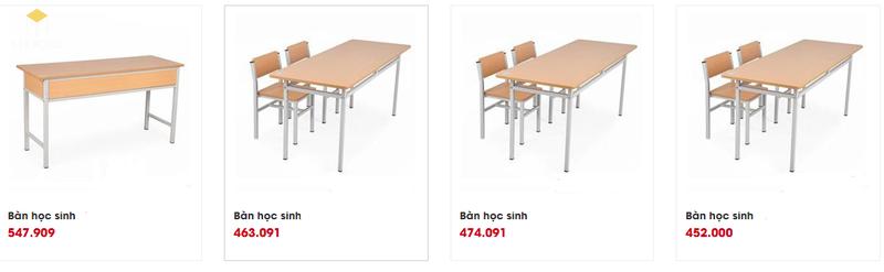 Mẫu và báo giá nội thất trường học - M6