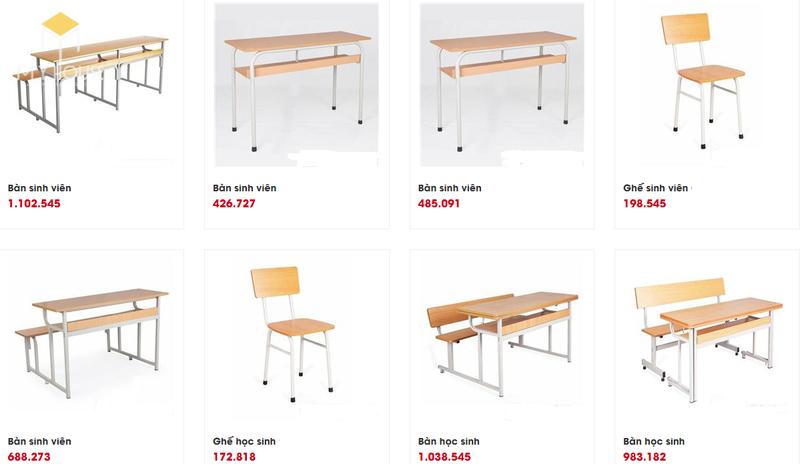 Mẫu và báo giá nội thất trường học - M8