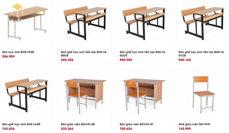 Mẫu và báo giá nội thất trường học - M10