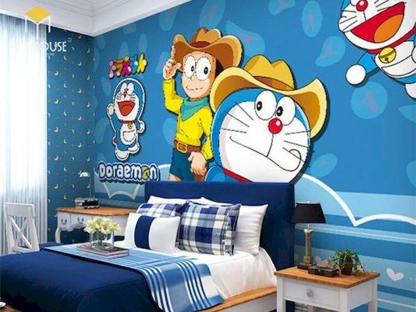 Mẫu trang trí phòng ngủ doremon đẹp - 1