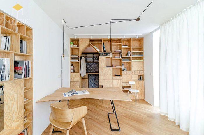 Loại ván ép có sử dụng lớp phủ bề mặt được dùng để sản xuất nội thất như: sofa gỗ phòng khách hiện đại, tủ quần áo, giường ngủ
