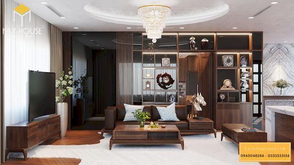 Sofa gỗ sồi chữ l