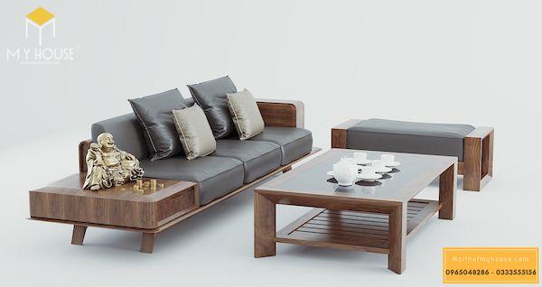 Sô pha gỗ sồi đơn giản