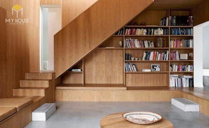 Tận dụng gầm cầu thang thành không gian học tập