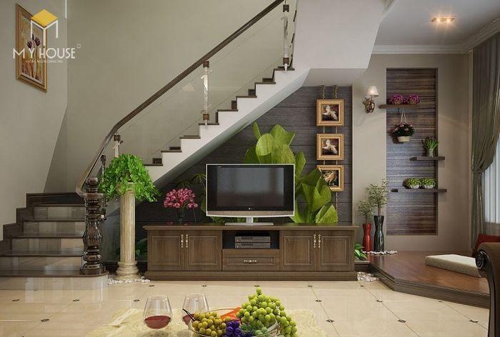 Tủ kệ tivi- tủ gầm cầu thang đẹp
