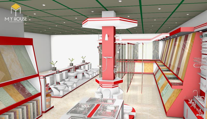 Mẫu thiết kế showroom vật liệu xây dựng đẹp - View 1