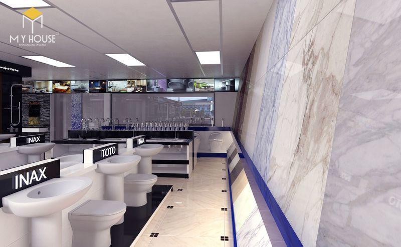 Thiết kế showroom thiết bị vệ sinh đẹp mắt và sang trọng - View 2