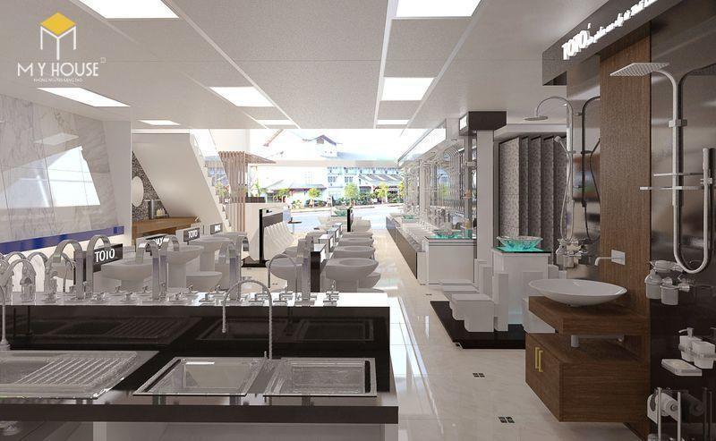 Thiết kế showroom thiết bị vệ sinh đẹp mắt và sang trọng - View 1