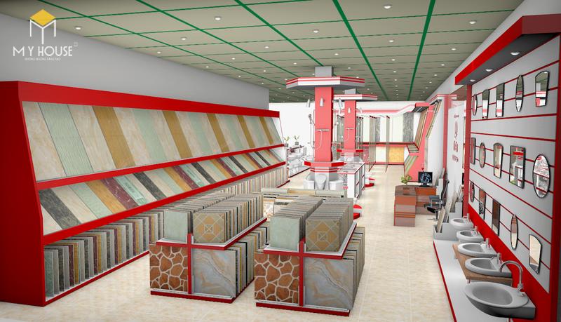 Thiết kế nội thất Showroom 8