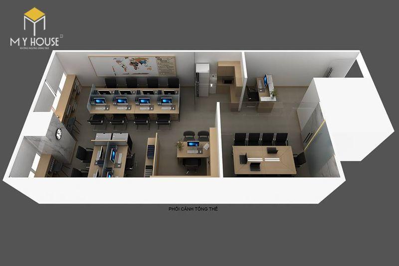 Mẫu thiết kế văn phòng 40m2 - View 1