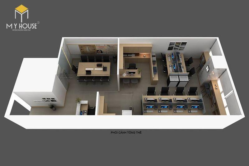 Mẫu thiết kế văn phòng 40m2 - View 2