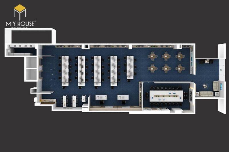 Mẫu thiết kế văn phòng nhỏ 60m2 - View 1