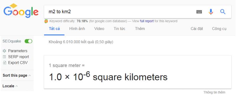 1 m2(mét vuông) bằng bao nhiêu mm2, km2, cm2, dm2 chuẩn xác nhất?