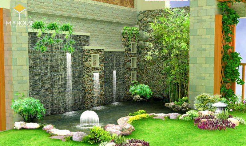 Tiểu cảnh sân vườn đẹp ấn tượng - M2