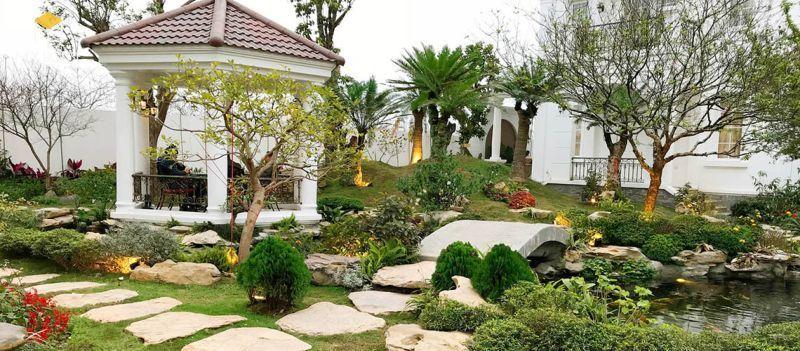 Tiểu cảnh sân vườn đẹp ấn tượng - M8