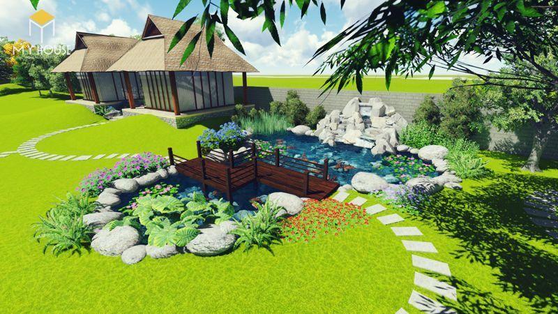 Tiểu cảnh sân vườn đẹp ấn tượng - M5