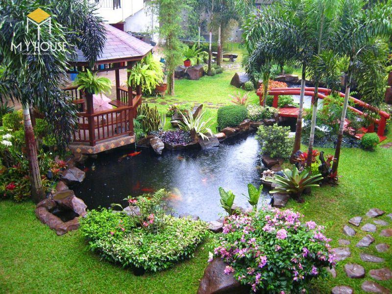 Tiểu cảnh sân vườn đẹp ấn tượng - M6