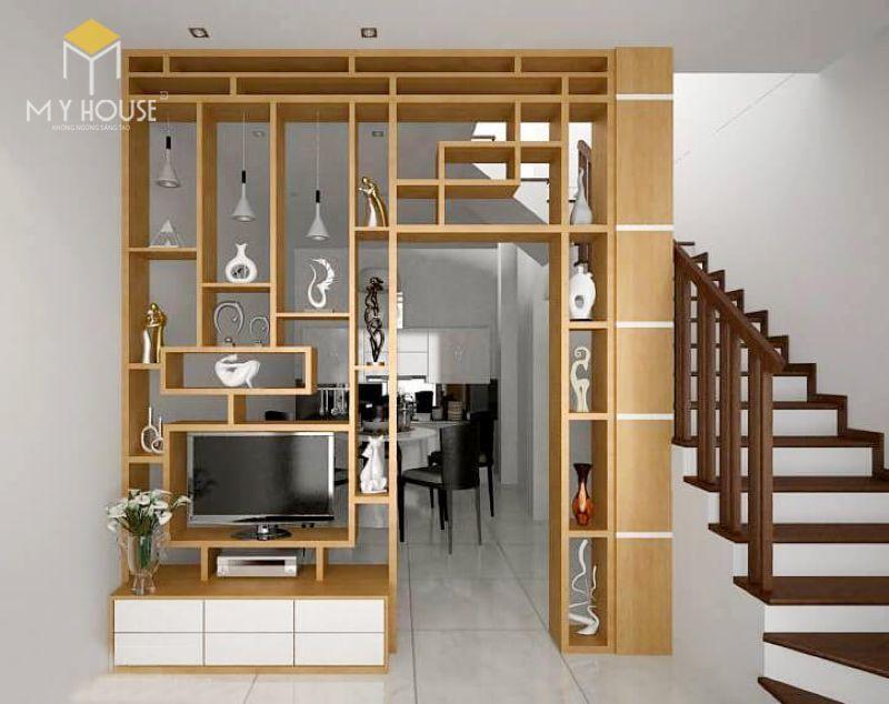 Vách ngăn gỗ cầu thang - M1