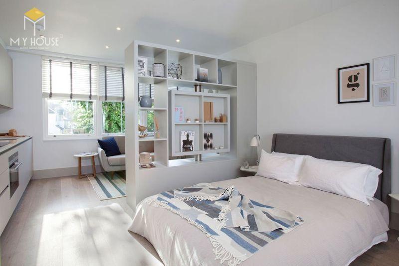 Vách ngăn phòng ngủ bằng gỗ - M1