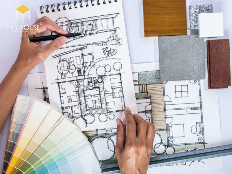 Công việc của Thiết kế nội thất khởi đầu từ bản vẽ quy hoạch đến đi vào thiết kế những đồ đạc bên trong