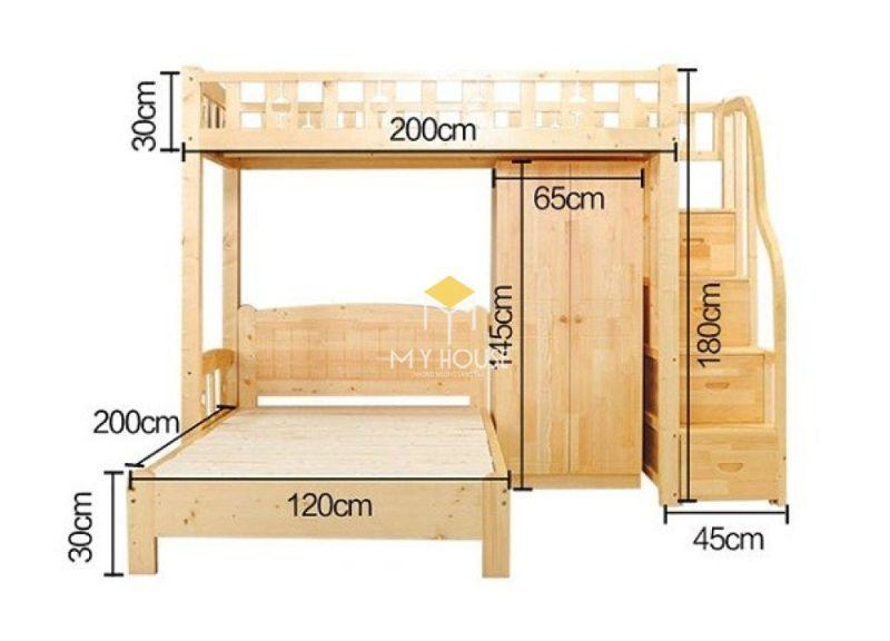 Kích thước giường tầng cho bé