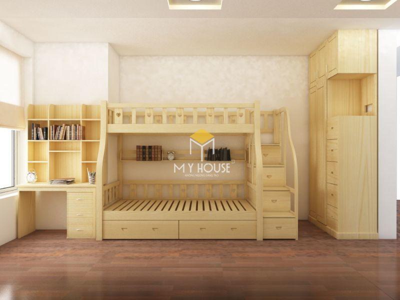 Giường tầng kết hợp với kích thước khác nhau
