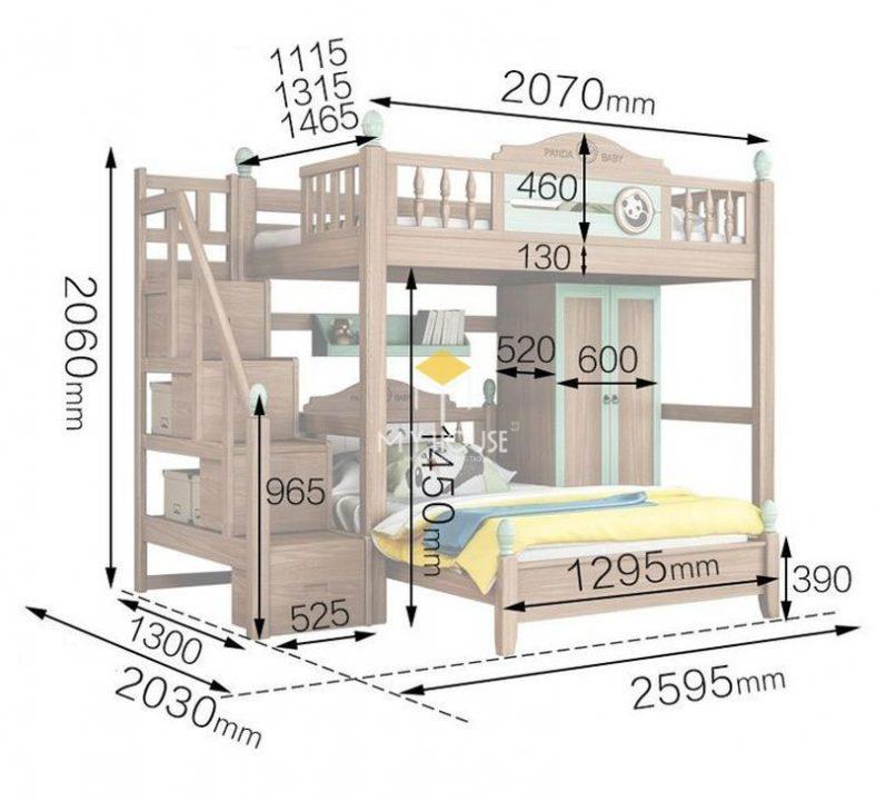 Kích thước giường tầng 3
