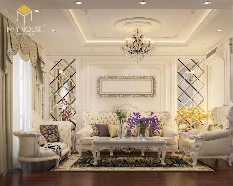 Mẫu thiết kế nội thất căn hộ 146m2 - View 1