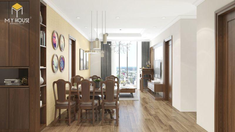 Mẫu thiết kế nội thất căn hộ 140m2 - View 2