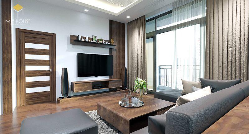 Thiết kế nội thất căn hộ Aqua Central hiện đại